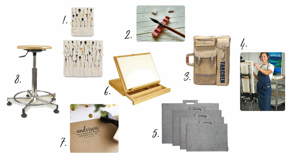 Gift ideas for artists & makers; how to upgrade their studio this holiday season! From danielle & co.