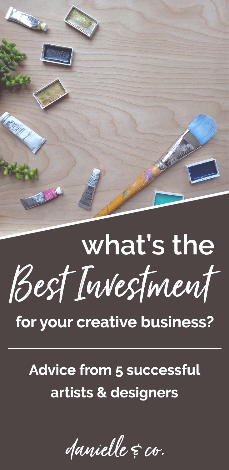 What's the best investment you can make in your creative business, when you're just starting out? We asked 5 artists & designers to share their wisdom! More at danielleandco.com.