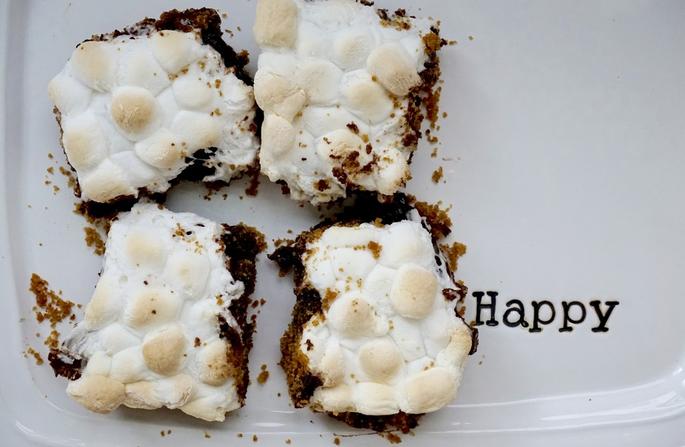s'more boxed brownies