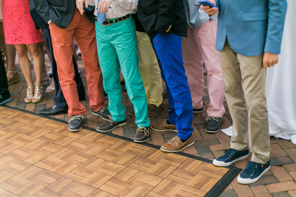 The unofficial attire of the weekend: Sperry's + colorful pants. I swear we didn't tell guests what to wear! It's just the Harbor Springs' vibe