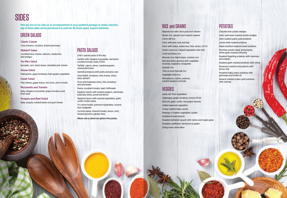 Berger's Catering Catalogue /  Production and Design