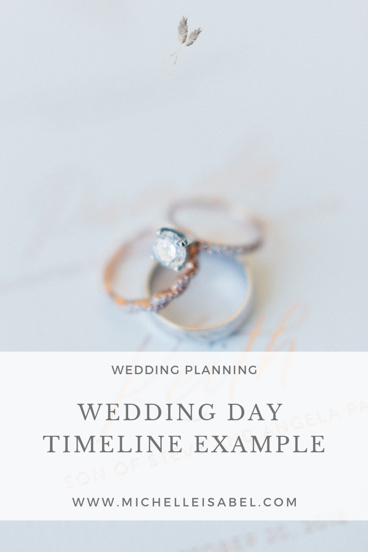 Wedding Day Timeline Example