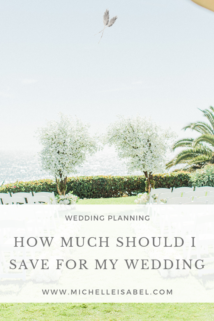 How much should I save for my wedding.