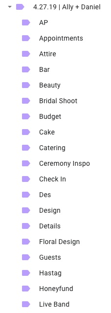 Here is a sample of what that folder could look like in your Google Drive.