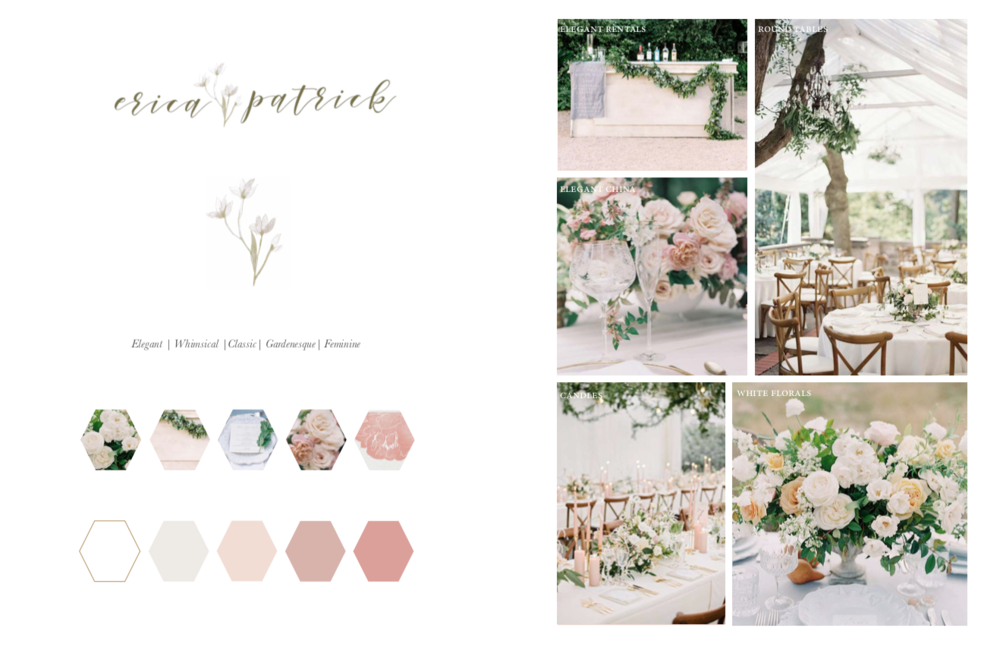 Sample mood board for my client
