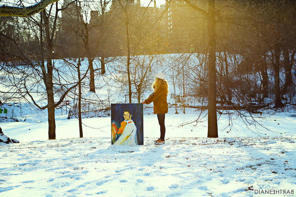 Picasso In The Snow, 2014. Central Park, NY