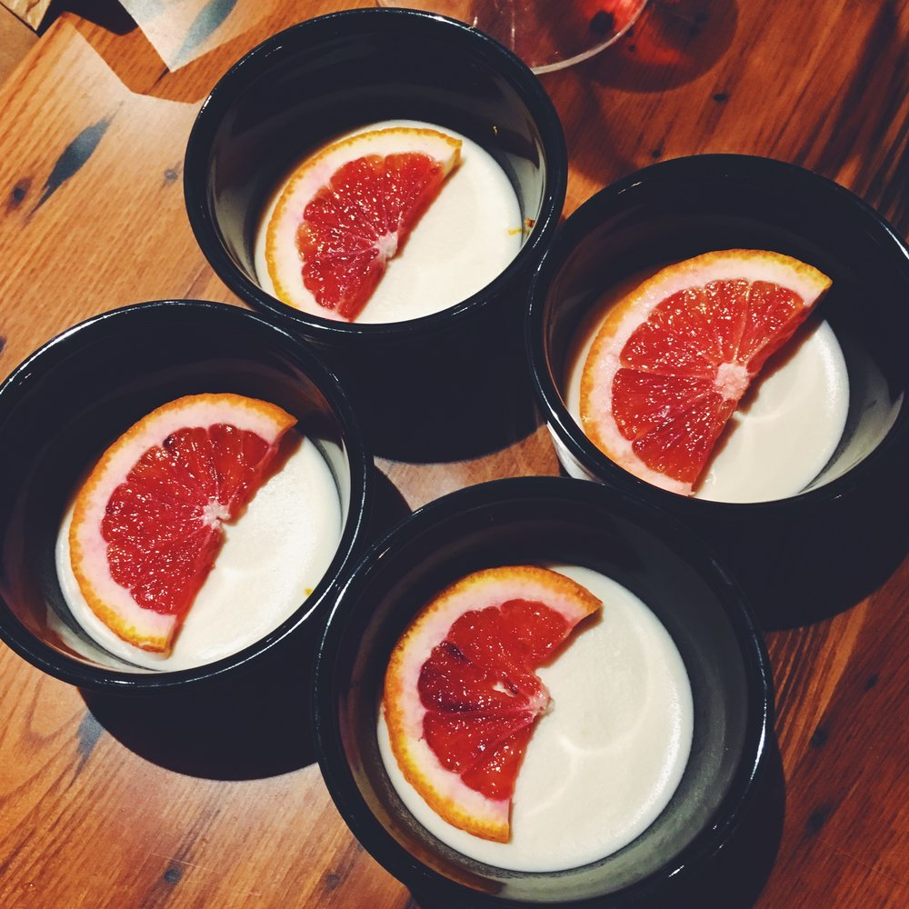 Dairy Free Blood Orange Panna Cotta - A cheat dessert for some Whole 30 friends.