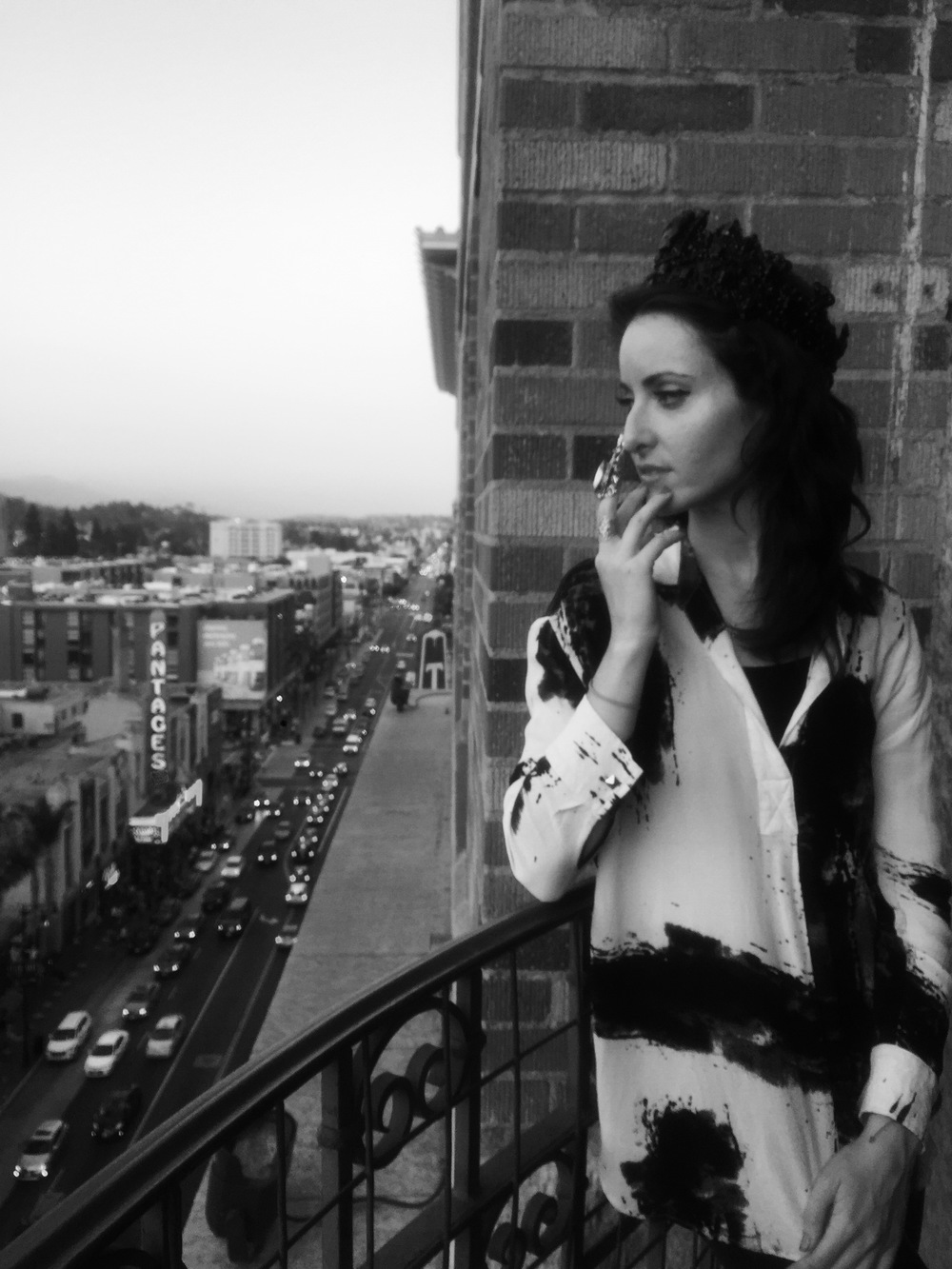 The View, magic hour, and black and white. Photographed by Ronit Aronoff