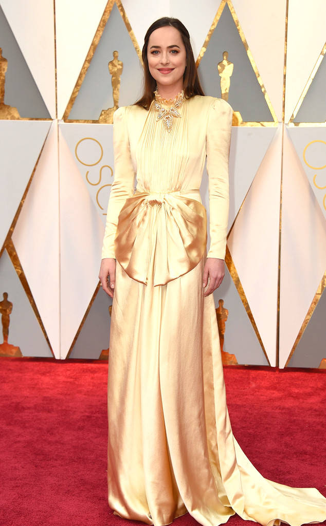Dakota Johnson in an extraordinarily gorgeous Gucci gown
