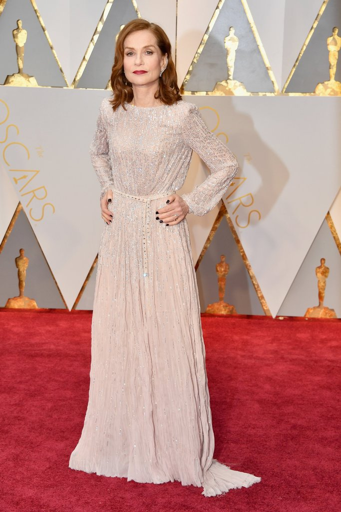 Isabelle Huppert in stunning beaded Armani gown