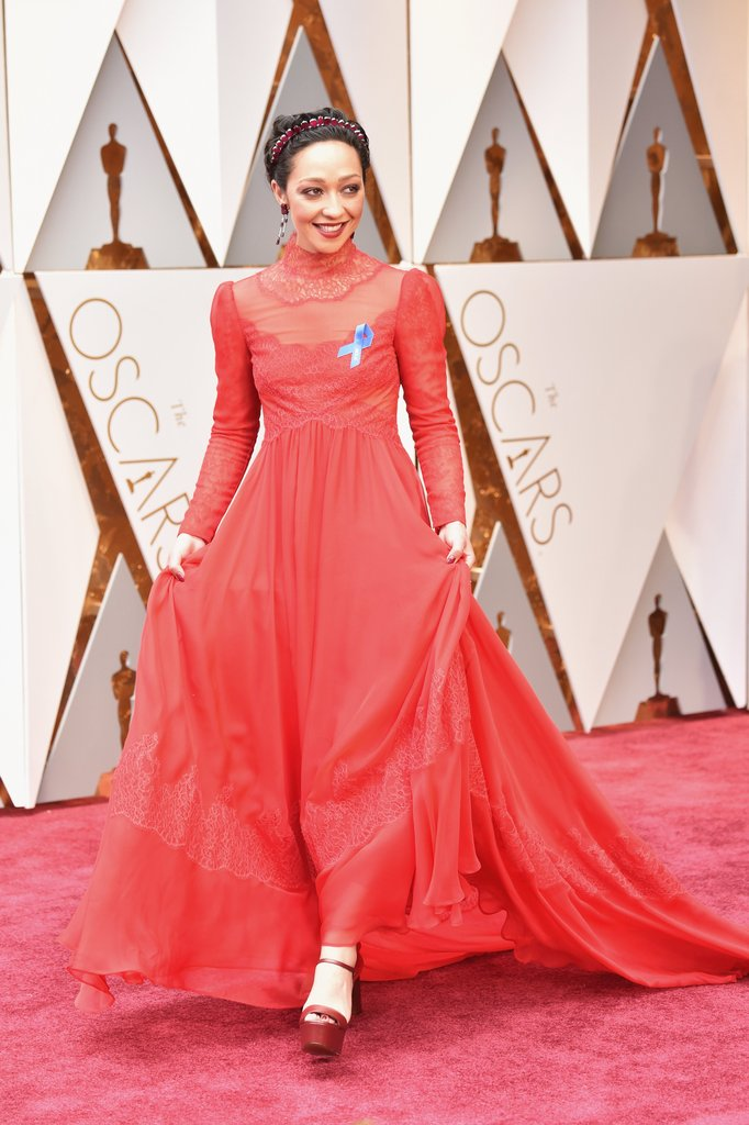 Ruth Negga in a precious vintage inspired Valentino Gown