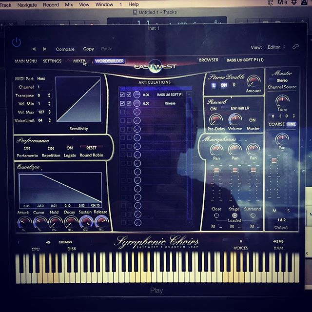 Trying out the #eastwest #composercloud today #composition #film composition #brisbanecomposer