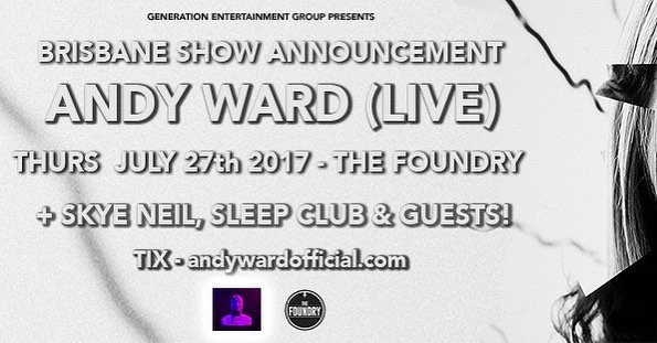 @andywardofficial tonight at @thefoundrybrisbane