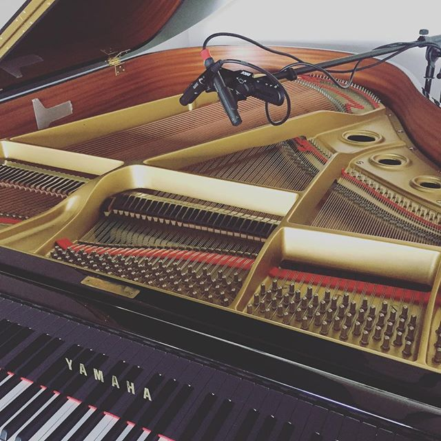 These #rodem5matchedpair sound damn good for the price. #yamahaG2 #pianorecording #studiorecording #pianolessonsbrisbane