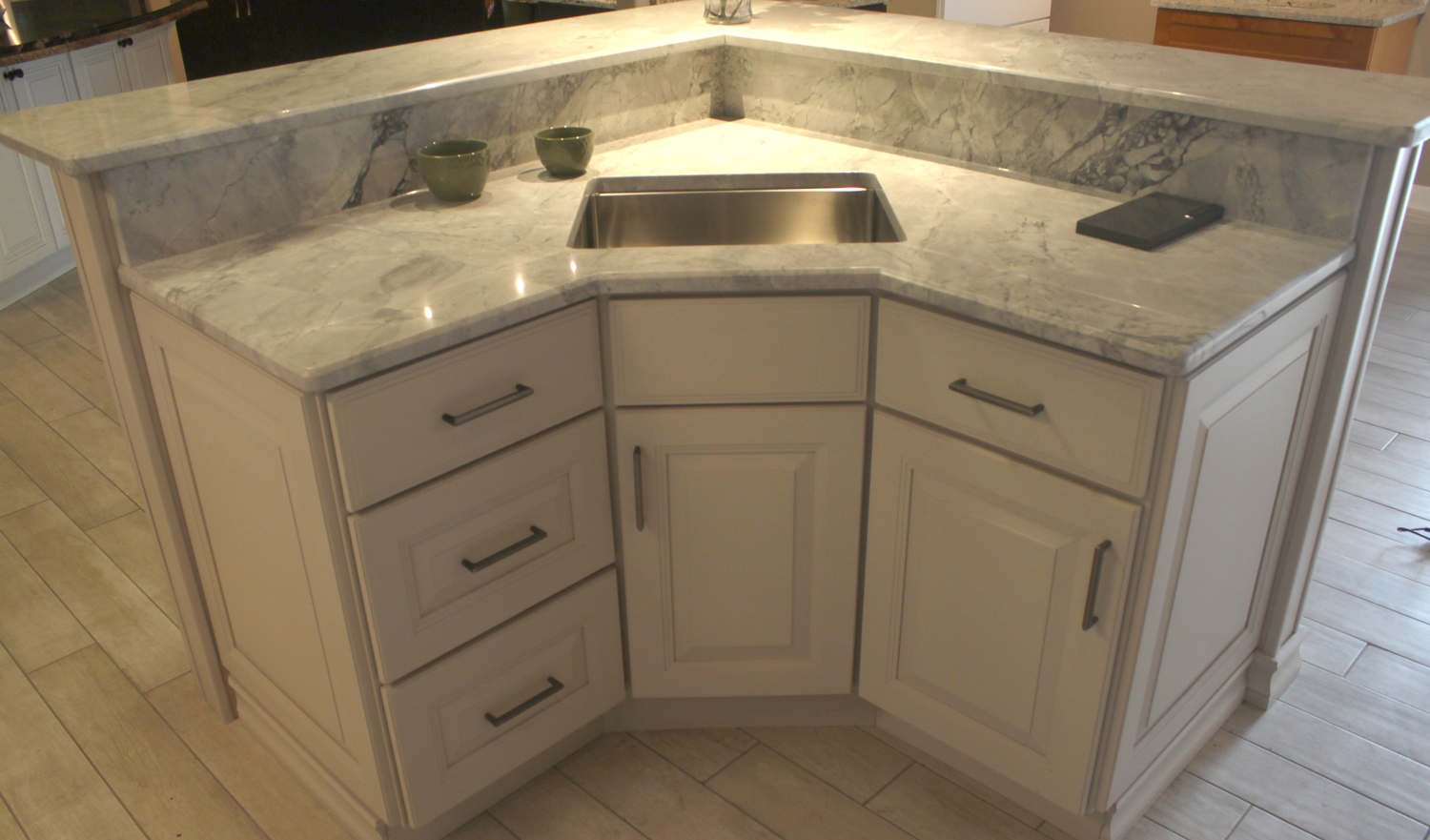 The residents of evanston see rock counter as the pick of the litter when it comes to kitchen cabinets countertops sinks and bath