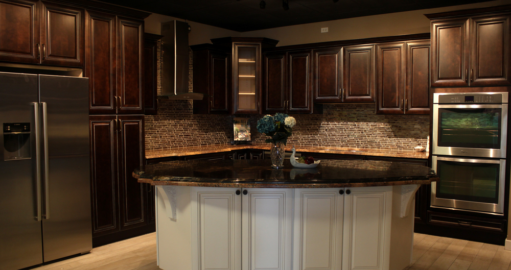 kitchen cabinets and countertops Lake Forest Kitchen Cabinets, Sinks and Countertops — Rock Counter kitchen cabinets and countertops