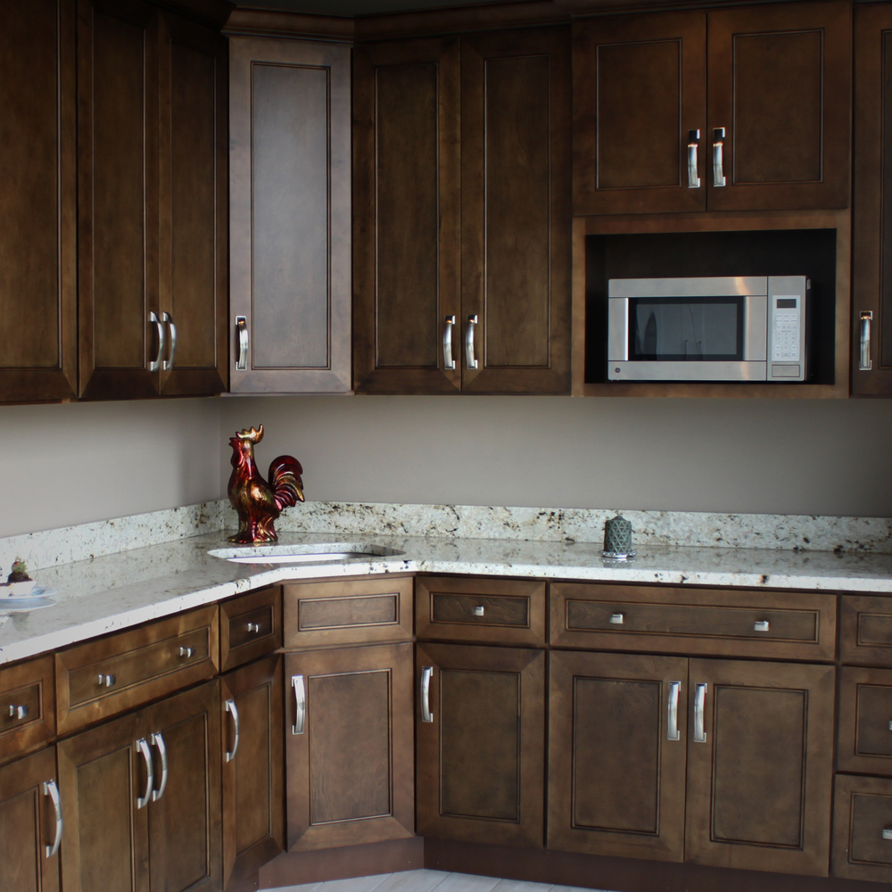 The chicagoland area prefers rock counter when it comes to all their kitchen cabinets countertops sinks and bath remodelling and construction