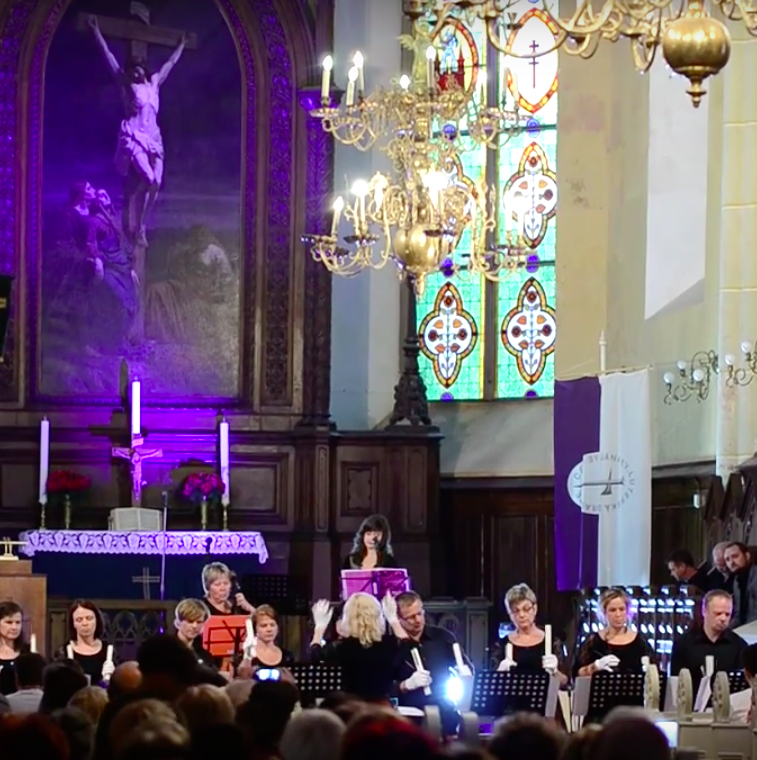 "Singing ""Pie Jesu"" in St. John's Cathedral in Cesis, Latvia"