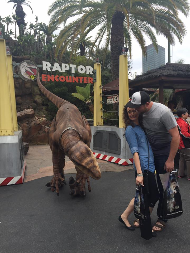 This raptor was getting a little too close for comfort