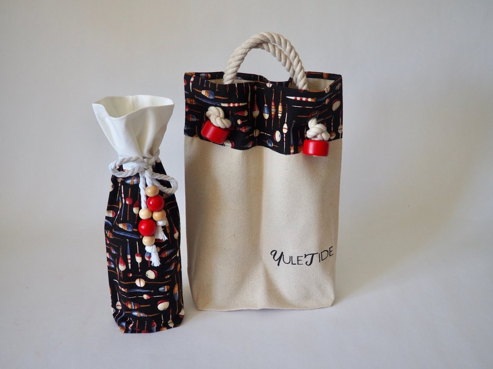 A single and double wine bag for YuleTide.