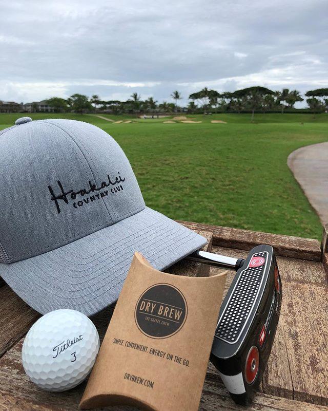 Happy Friday folks! Golf this weekend? ⛳️ #drybrew #coffeechew #golf #hawaii #coffeelover #coffeetime #takeabreak #weekendvibes