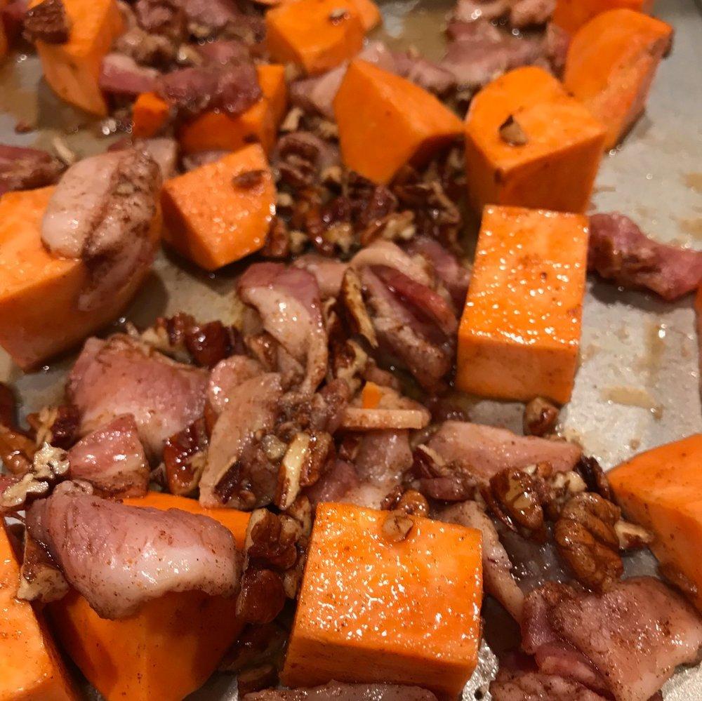Sweet Potatoes Pecans Bacon Cooked.jpg