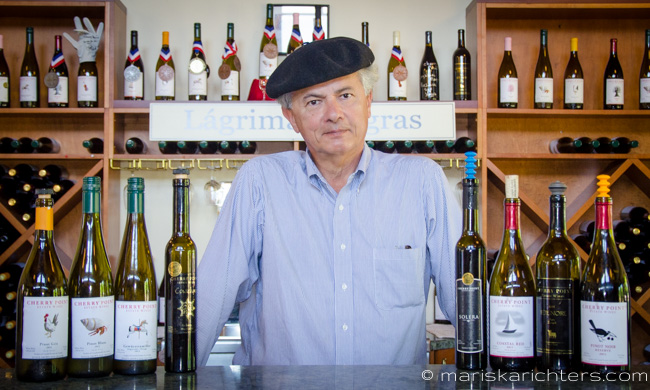 Cherry Point Vineyard Owner, Xavier Bonilla - Gorgeous photo from: http://mariskarichters.com Lots more on her site!