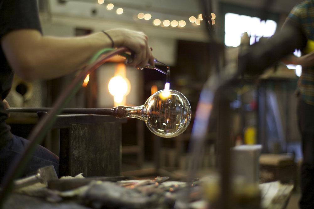 Glassblowing at UM