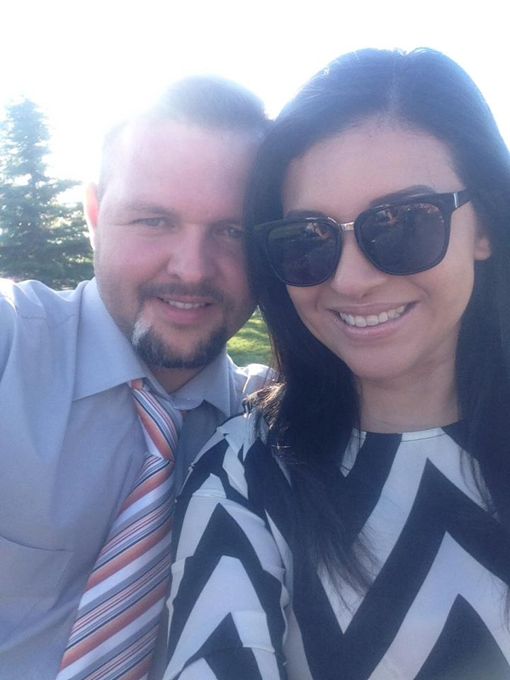 Enjoying our Canada Wedding