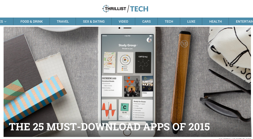 8. Thrillist  The 25 Must-Download Apps of 2015
