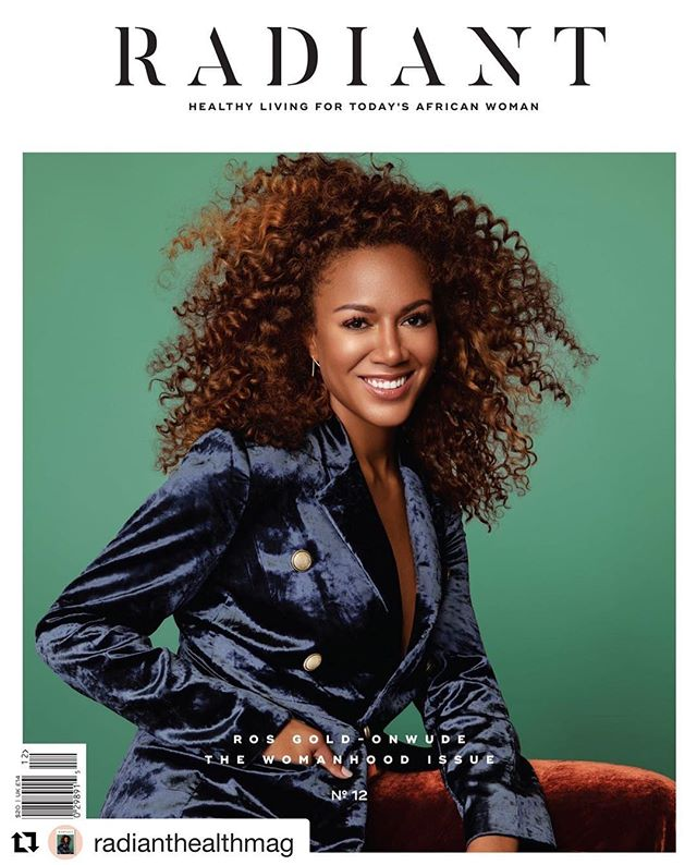 I've kept this secret since August, and now it's finally here. My FIRST MAGAZINE COVER STORY! I interviewed @rosgo21, the amazing #girlboss of the NBA and Turner Sports' superstar for @radianthealthmag's #TheWomanhoodIssue. Pick up a copy of the magazine on newsstands at Barnes & Noble and worldwide! . . #radiantwoman #africangirls #africanwomen #womeninsports #NBA #TurnerSports #rosgoldonwude