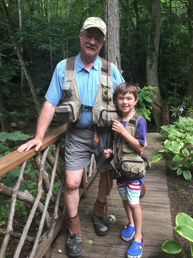 We loved having this sweet kid for a week and it made him so happy that Papa gave him another set of lessons on fly fishing.