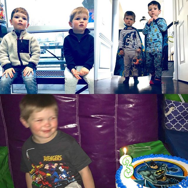 They turned 3 and 4.  I can't believe how fast they are growing up.  Sweet boys. Love them to pieces #williamsongrandkids #irishtwins#birthdays #march2018
