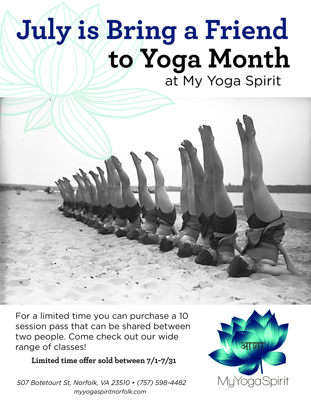 Bring a Friend to Yoga Month