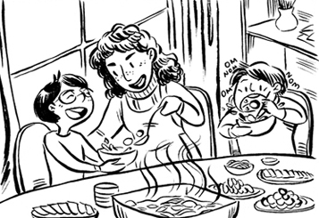 Hot-Pot Winters    A primer on the set-up, ingredients, and etiquette involved in Chinese hot-pot: a meal shared around a simmering pot of broth. This was my contribution to Lauren Jordan's  Comfort Food Zine .