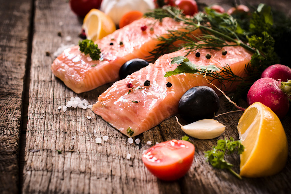 Salmon with lemon and lime