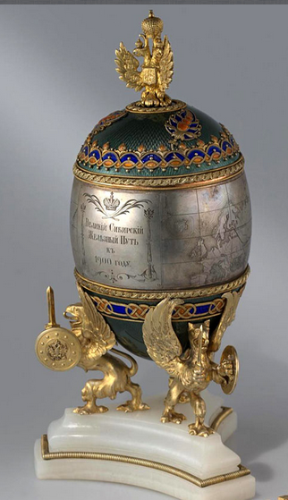 The Fabergé Trans-Siberian Egg   Easter 1900