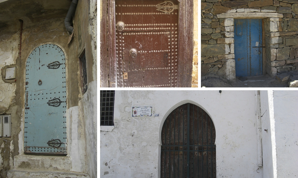 Moroccan doors serve their purpose!  Aren't they gorgeous - I collected them on my journey and have a whole folder of Moroccan doors.  Just don't try getting in or OUT!