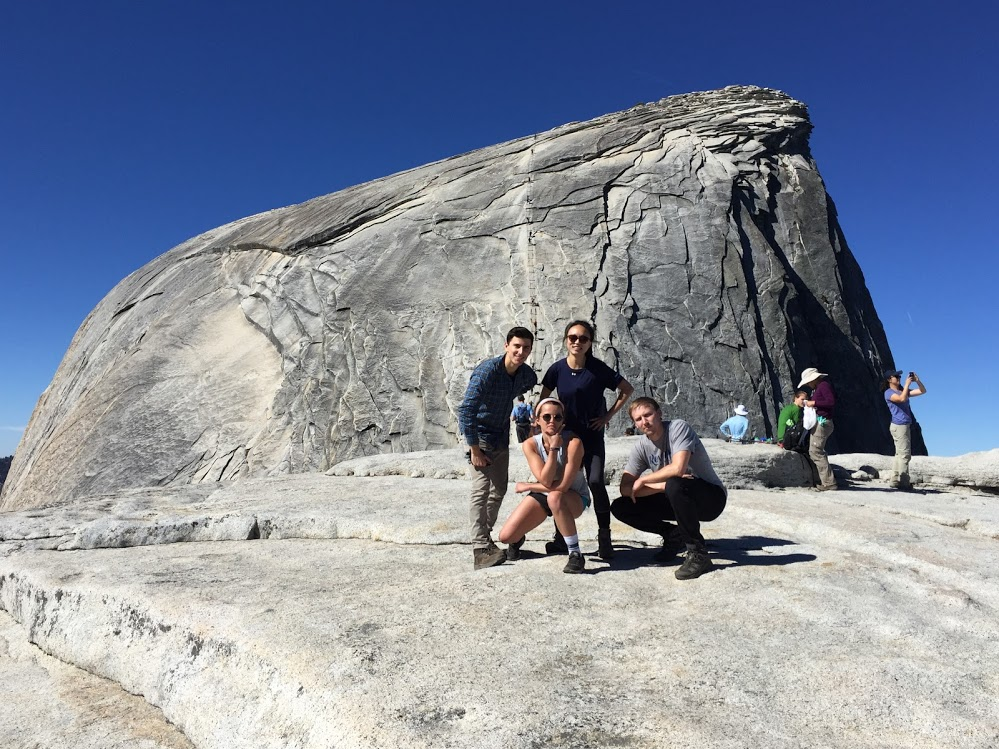 At the top of Subdome, about to tackle the Half Dome cables.