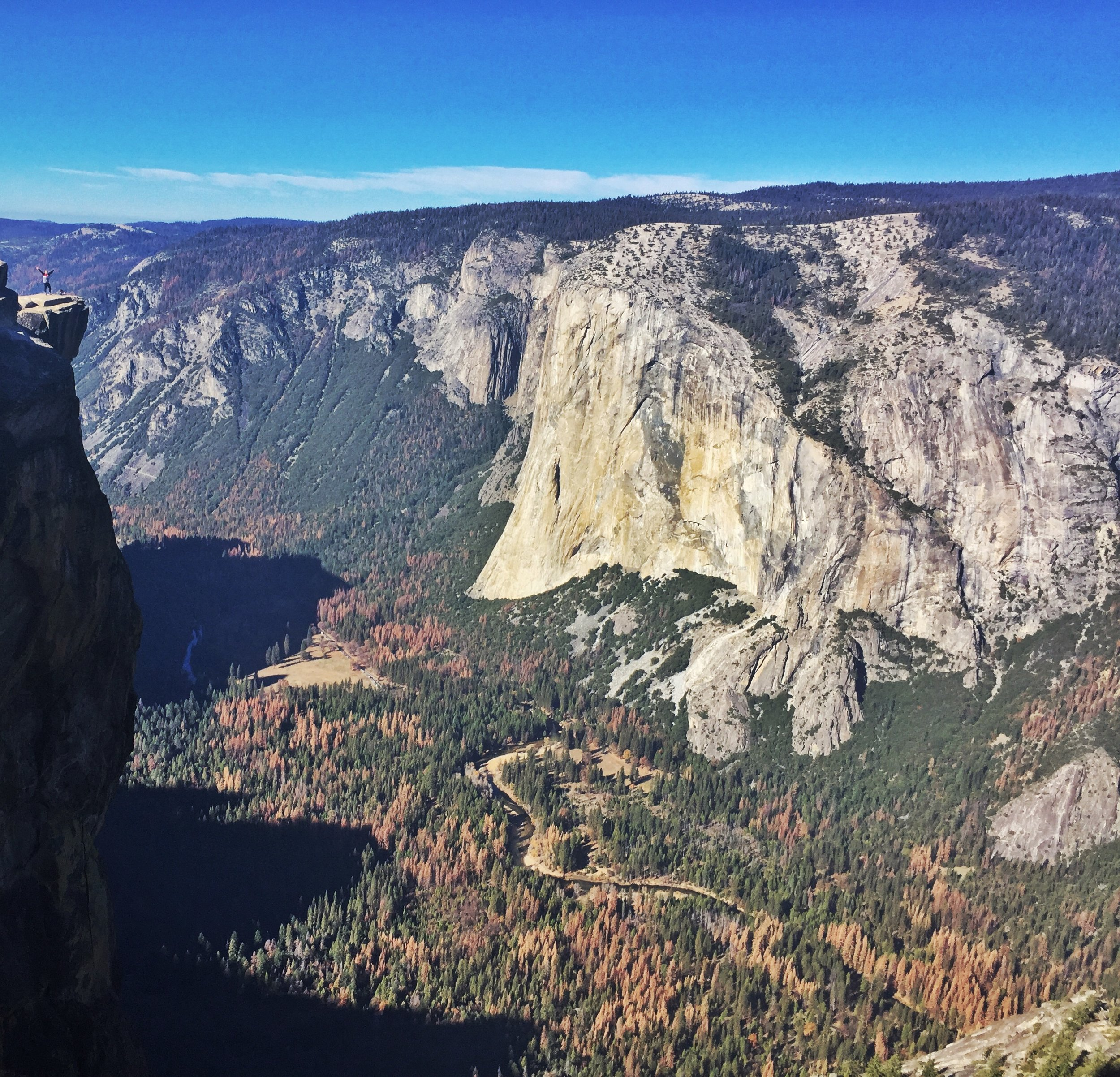 Out on the edge at Taft Point.