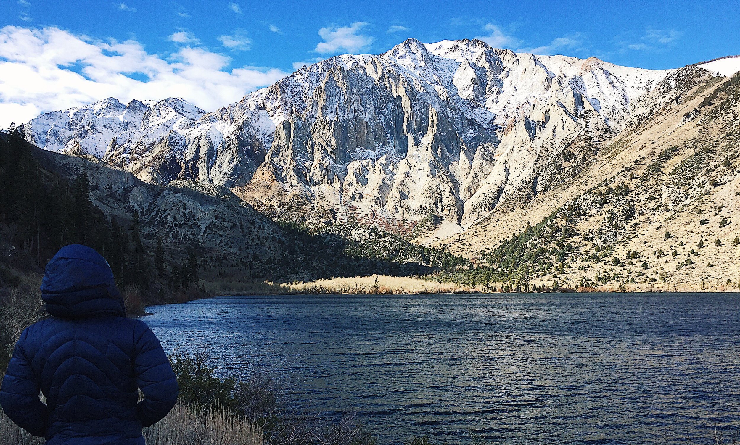 Admiring the view at Convict Lake.