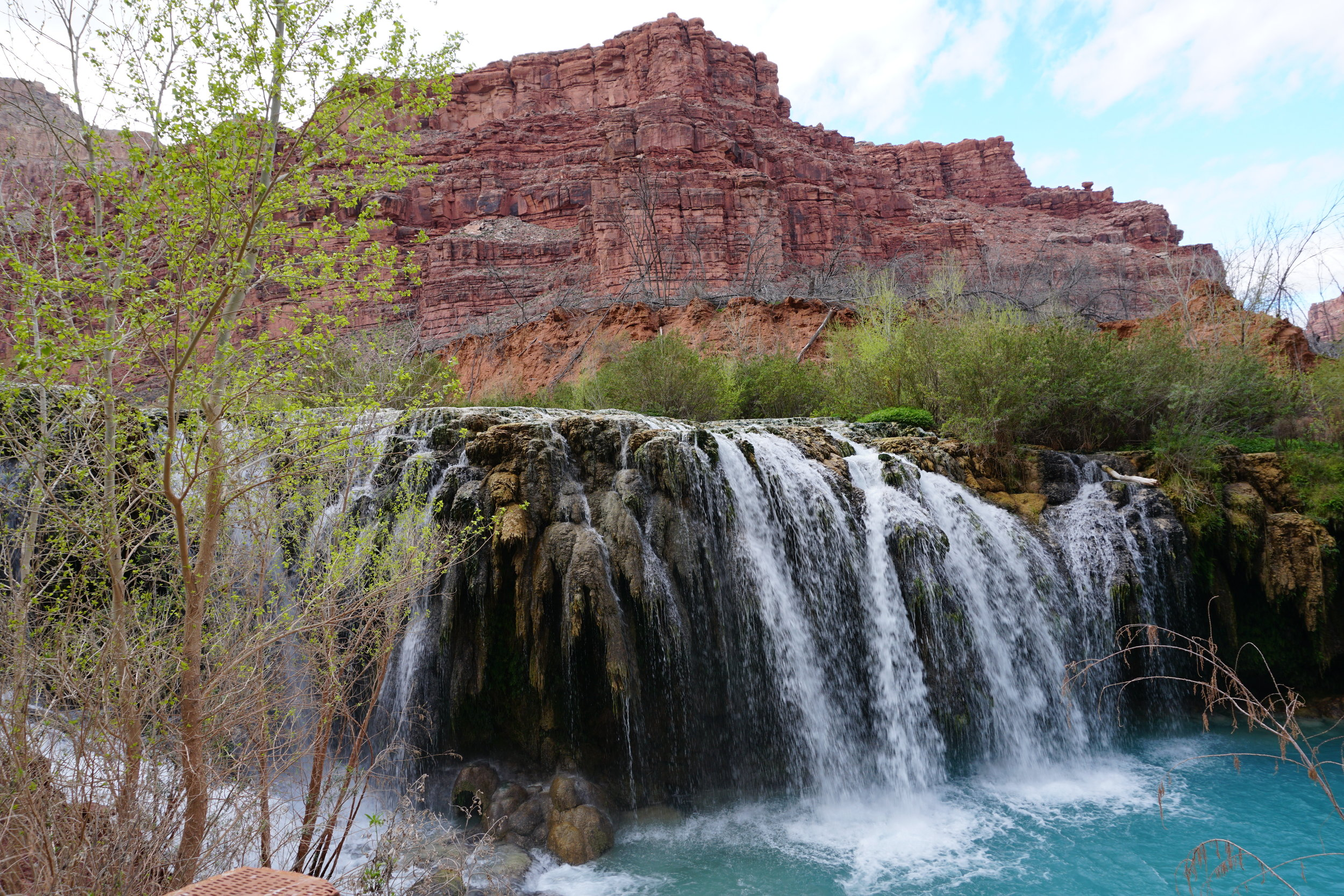 The largest most accessible waterfall is definitely havasu falls there s plenty of room to swim and hang out if it s warm enough