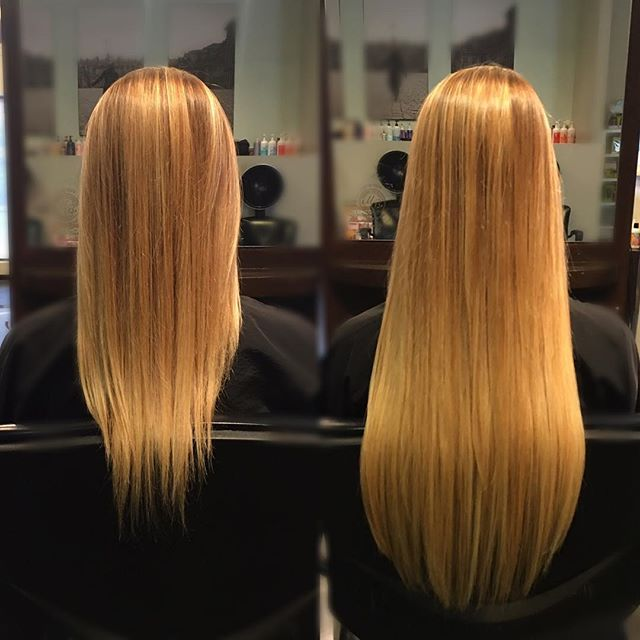 ⚡️Extensions by Marika. Having it straight really let's you see how blended they are. 👀 Have you ever had extensions? Would you get them again? #nofilter #longhair #beforeandafter #extensions #expert #yeghair #mousybrowns #yeg #beauty #style #fashion #edmonton #hotheadshairextensions #tapeins #modernsalon #behindthechair