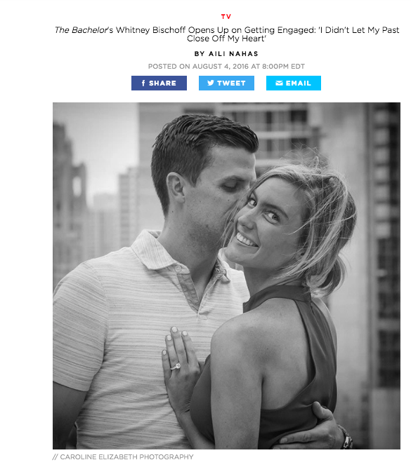 People.com - Bachelor Alum Whitney Biscoff's engagement photos.