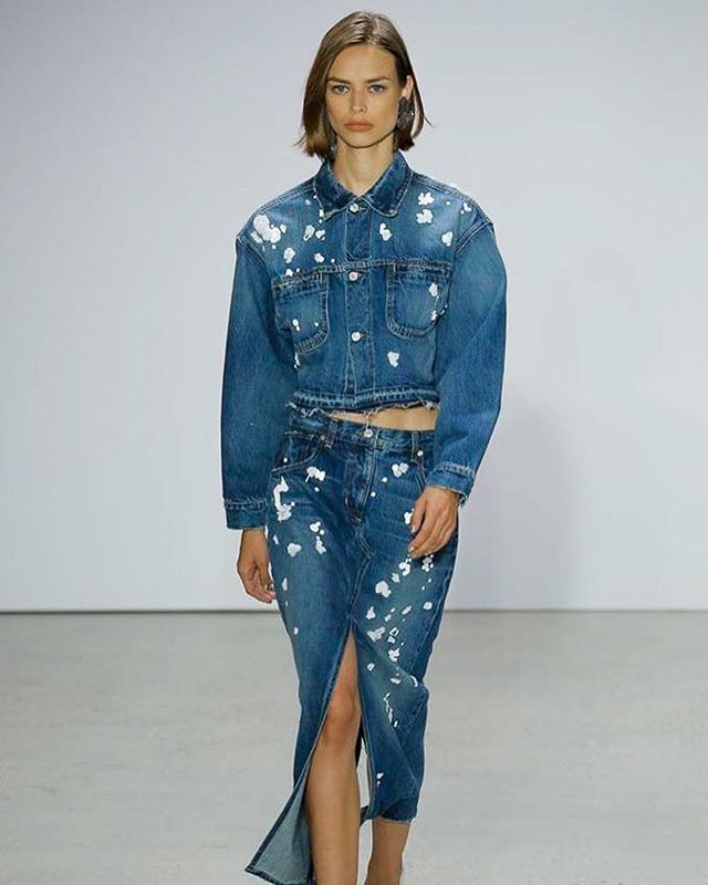 #itiloves the head-to-toe denim looks at the Oscar De La Renta show today during #nyfwss18