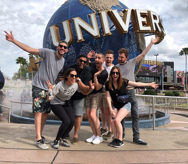 Let's keep doing stuff like going to universal and riding rides that could kill me. I'm super lucky to have friends that will risk their lives with me. #mummy4lyfe