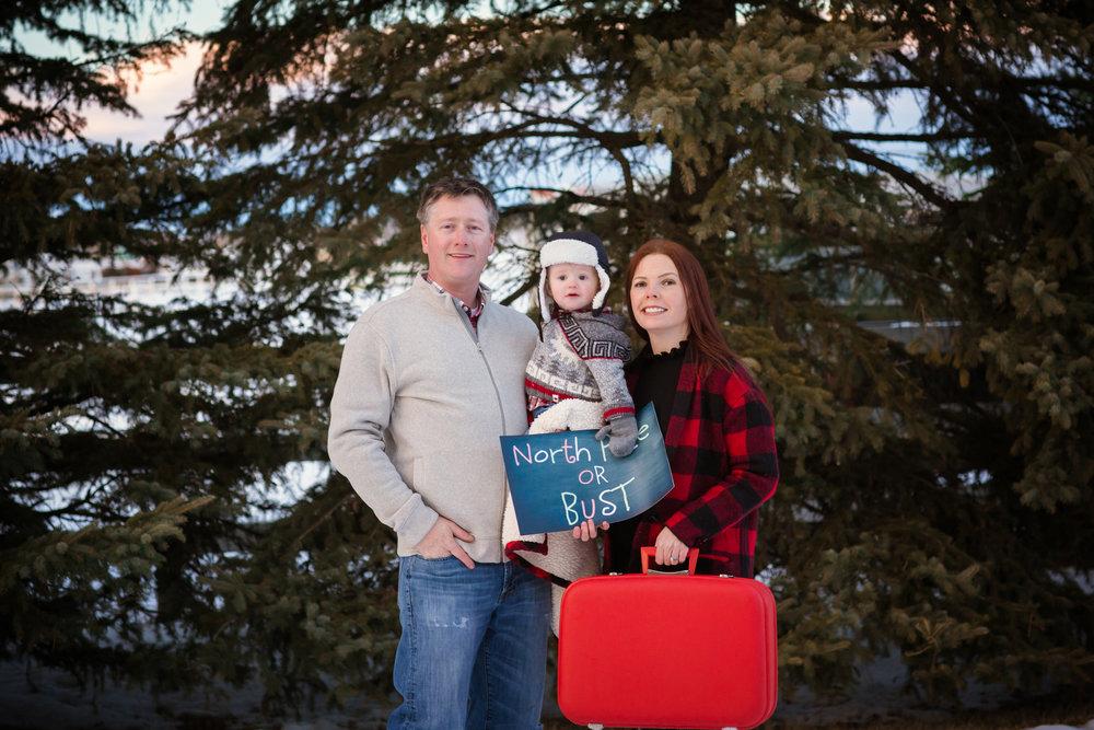 Creative Christmas Photoshoot - Calgary Photographer