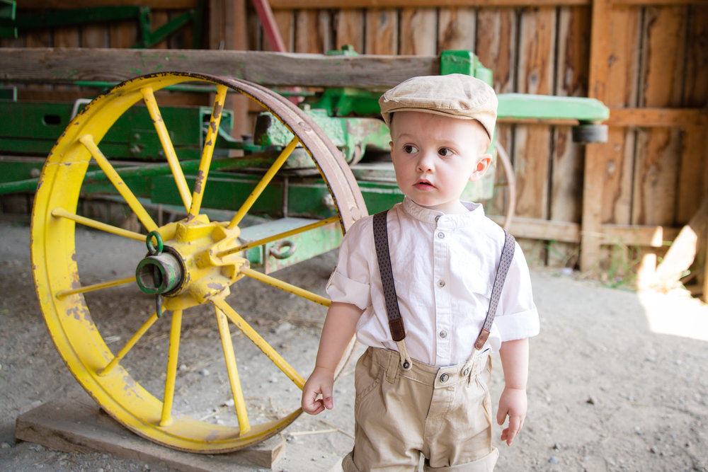 Curious little boy at the Heritage Park, Calgary. Calgary photographer - Milashka Photography