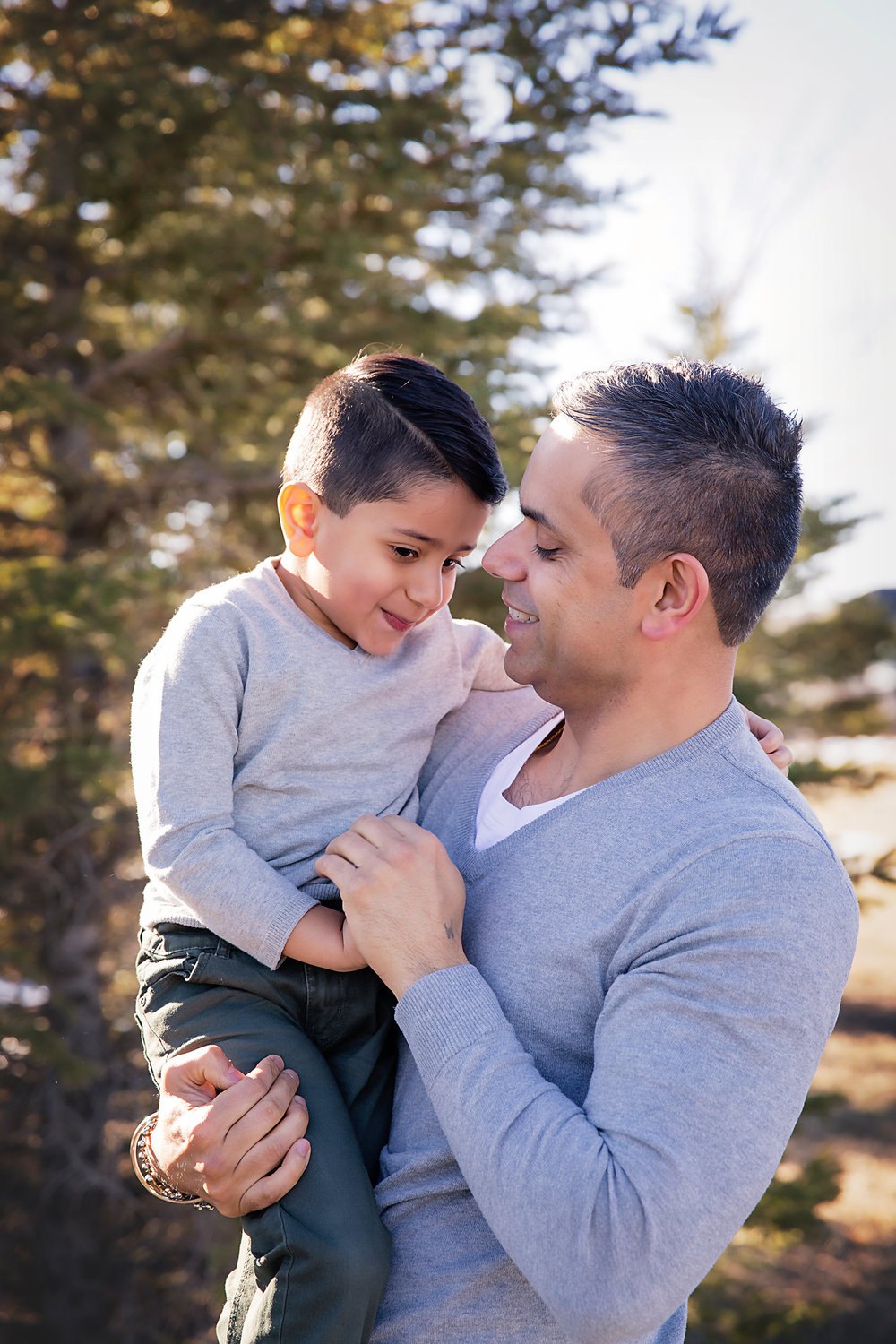 Portrait of a father and son. Calgary family photographer.