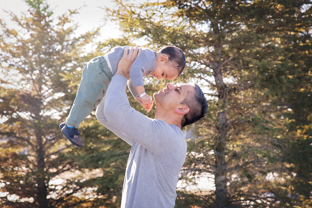 Father and son portrait. Calgary and Airdrie, Alberta family photographer. Milashka Photography